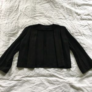 vintage linen cropped blazer